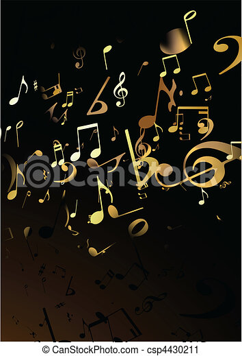abstratos, música, fundo - csp4430211