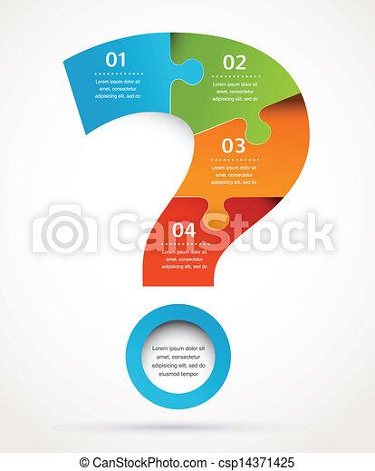 abstratos, marca pergunta, infographics, desenho, fundo - csp14371425