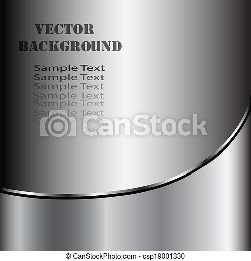 abstratos, metal, criativo, experiência., vetorial, fundo, tecnológico, prata - csp19001330