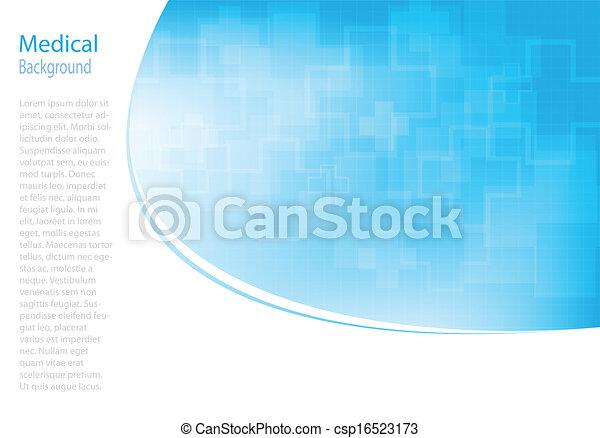 abstratos, moléculas, médico, fundo - csp16523173
