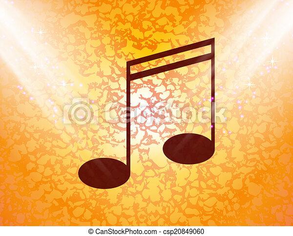 abstratos, notas, música, fundo, aduelas - csp20849060