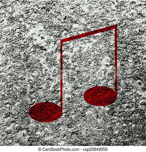 abstratos, notas, música, fundo, aduelas - csp20849059