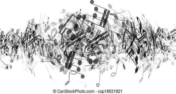abstratos, notas música, fundo - csp18631821