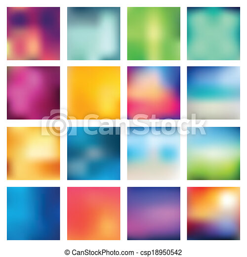 abstratos, obscurecido, (blur), backgrounds. - csp18950542