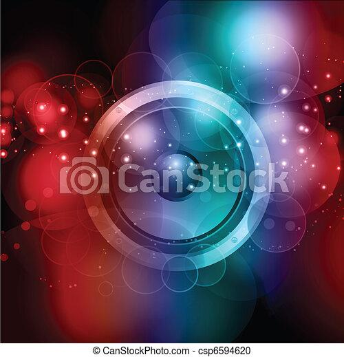 abstratos, orador, fundo - csp6594620