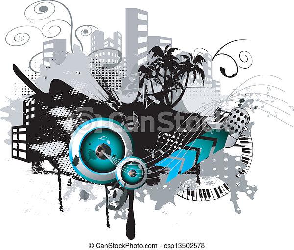abstratos, orador, fundo - csp13502578