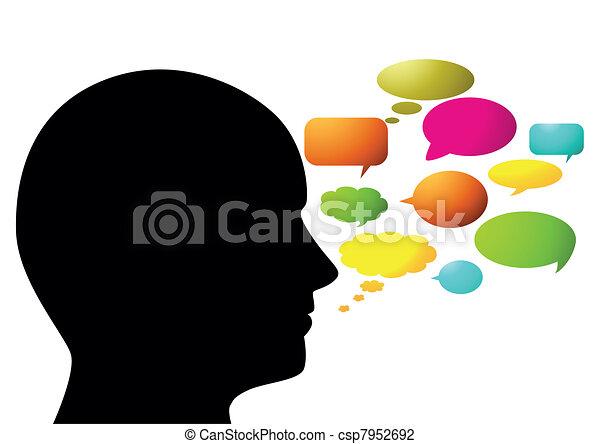 abstratos, orador - csp7952692