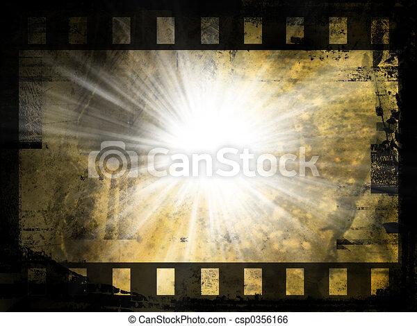 abstratos, película, fundo, faixa - csp0356166