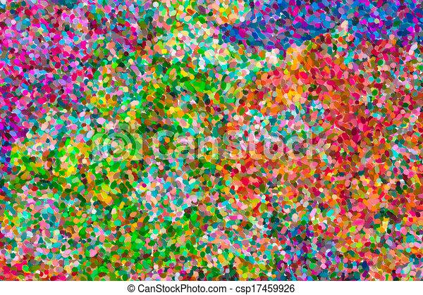 abstratos, pintura óleo, pointillist - csp17459926