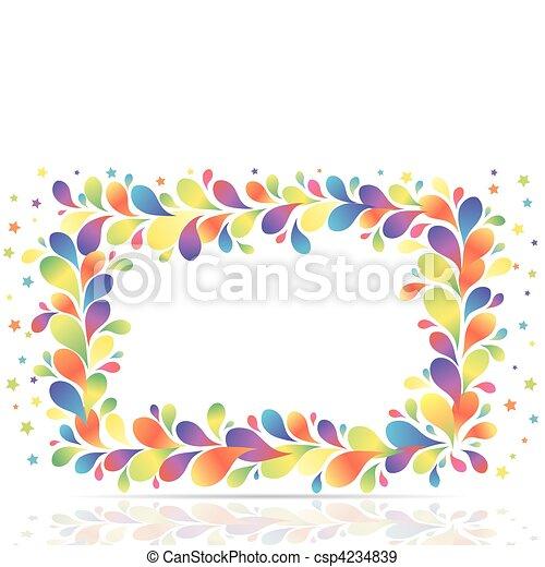 abstratos, quadro - csp4234839