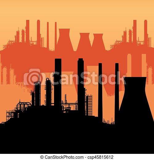 abstratos, skyline industrial - csp45815612