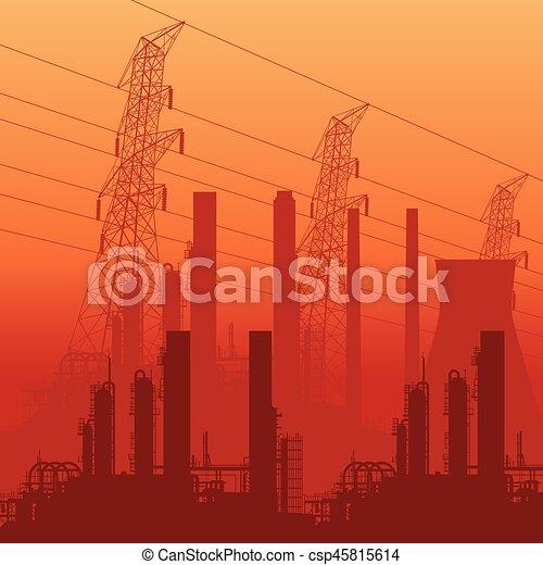 abstratos, skyline industrial - csp45815614