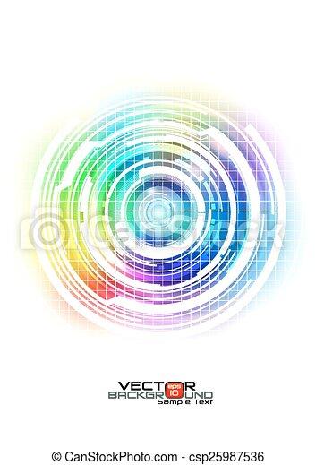 abstratos, tecnologia, coloridos, fundo - csp25987536