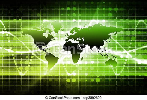 abstratos, tecnologia, fundo - csp3892620