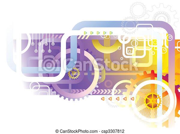abstratos, tecnologia - csp3307812