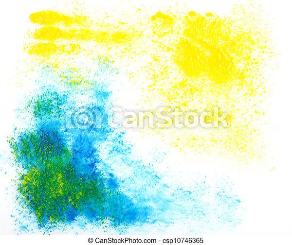abstratos, texturas, grande, aquarela, experiência., vindima, mão, desenhado, design. - csp10746365