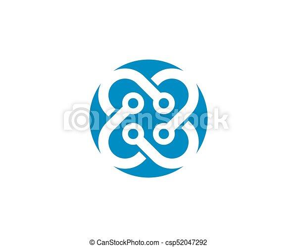abstratos, unidade, vetorial, desenho, modelo, logotipo - csp52047292