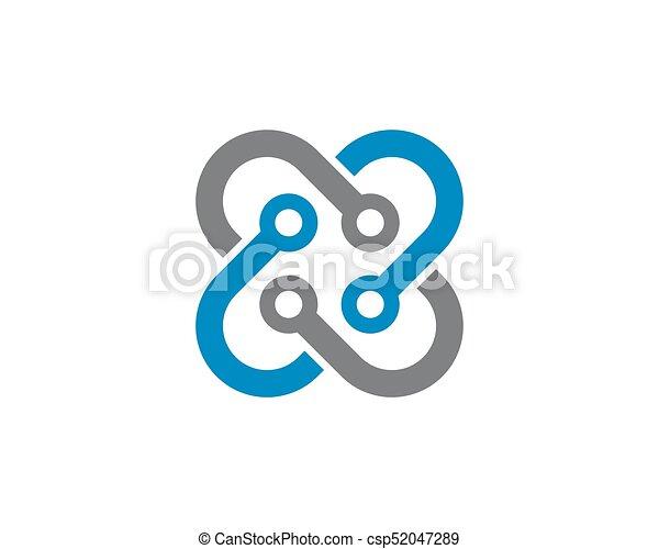 abstratos, unidade, vetorial, desenho, modelo, logotipo - csp52047289