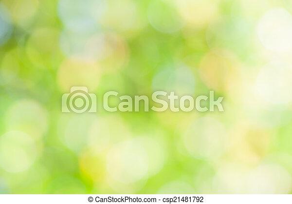 abstratos, verde, defocused, fundo - csp21481792