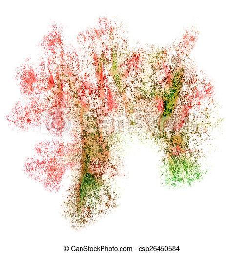 abstratos, vermelho, aquarela, desenho, fundo, seu - csp26450584