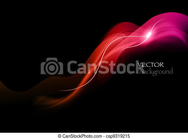 abstratos, vermelho, fumaça - csp9319215