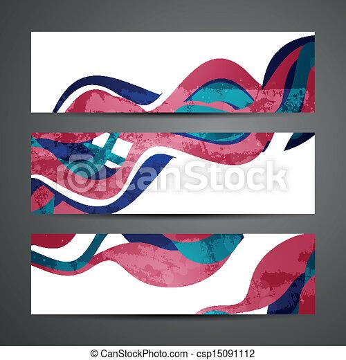 abstratos, vetorial, bandeiras - csp15091112