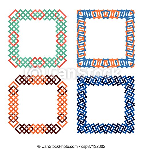 abtract squares frame set - csp37132802