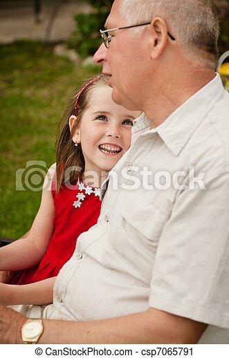 abuelo, bueno, -, nieta, épocas - csp7065791
