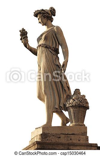 abundancia, diosa, piazza del popolo, estatua - csp15030464
