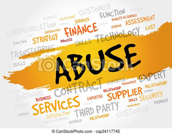Abuse word cloud - csp34117745