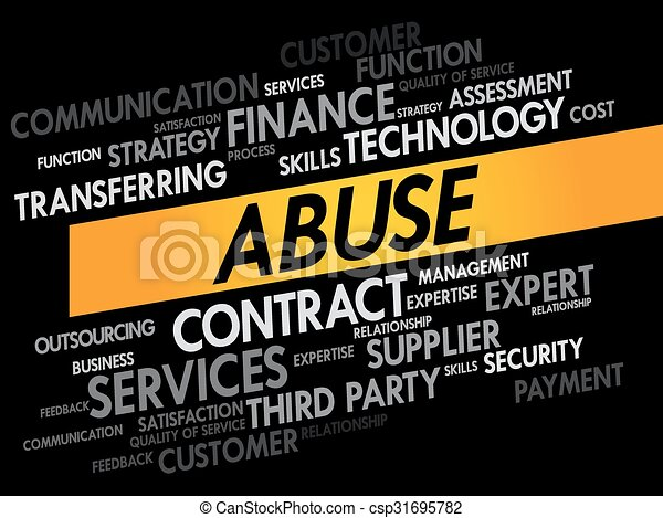 Abuse word cloud - csp31695782