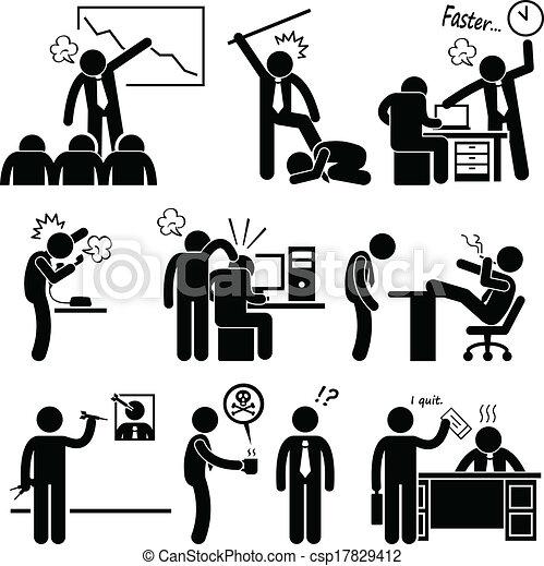 abuser, employé, fâché, patron - csp17829412
