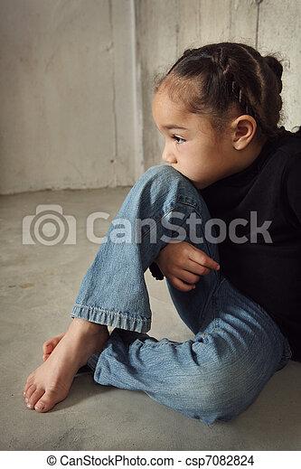abuso, criança - csp7082824