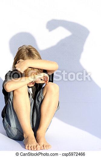 abuso, criança - csp5972466