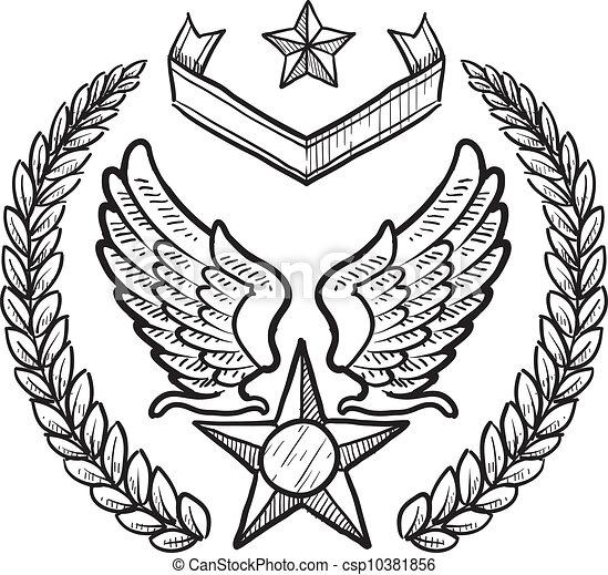 abzeichen, militaer, zwingen, uns, luft - csp10381856
