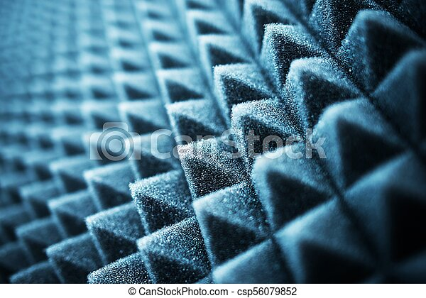 acústico, espuma, closeup - csp56079852