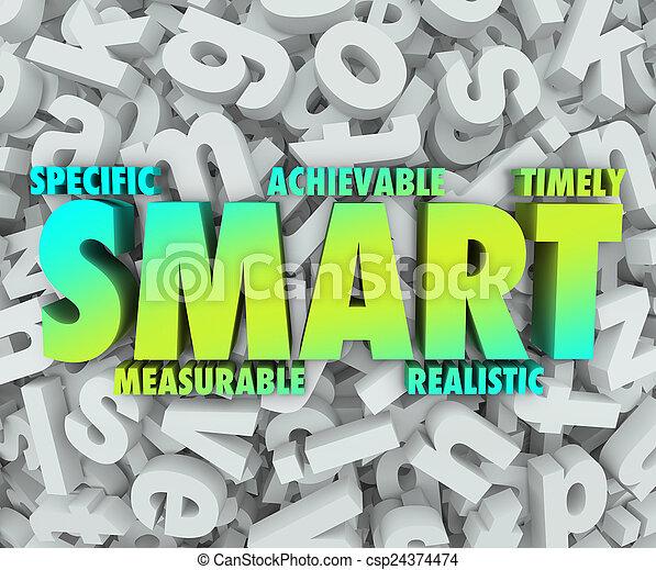 ac, but, objectifs, mission, spécifique, achievable, criteria, intelligent, 3d - csp24374474