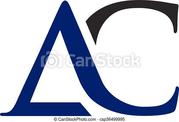 AC letter logo - csp36499995