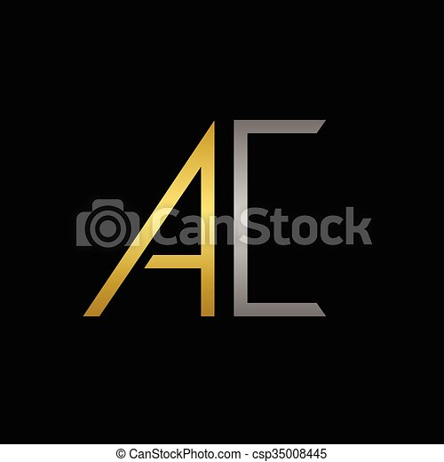 Ac letters logo. Golden a and silver c letters logo template for ...