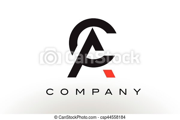 AC Logo.  Letter Design Vector. - csp44558184