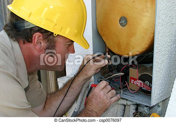 AC Repairman Working - csp0076097