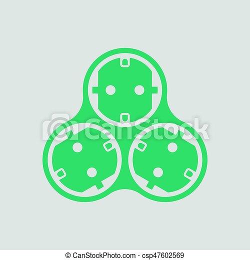 AC splitter icon - csp47602569