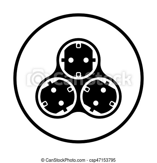 AC splitter icon - csp47153795