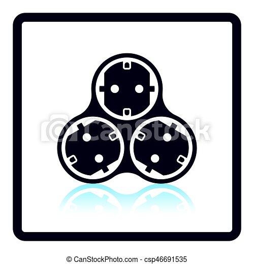 AC splitter icon - csp46691535
