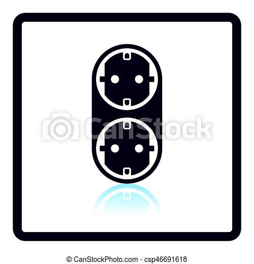AC splitter icon - csp46691618
