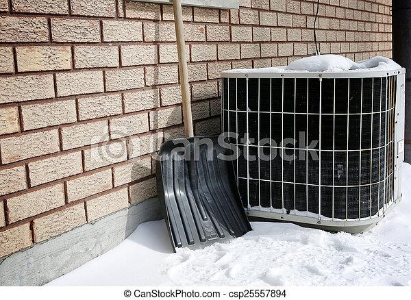 AC under snow - csp25557894