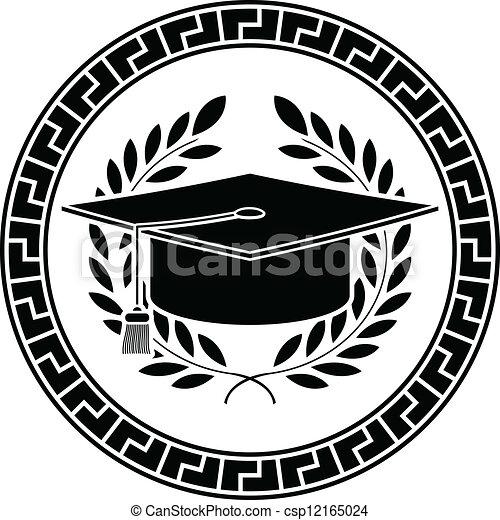Capa académica cuadrada. Stencil - csp12165024