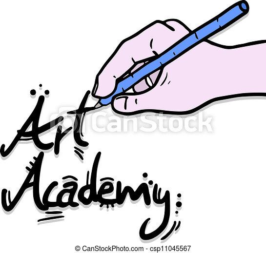 academia, arte - csp11045567