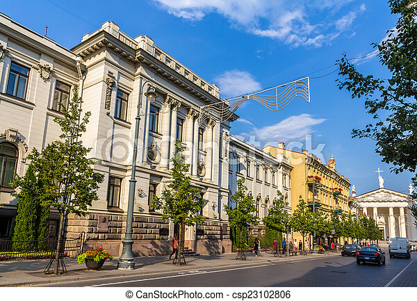 Academia Lituana de Ciencias en Vilnius - csp23102806