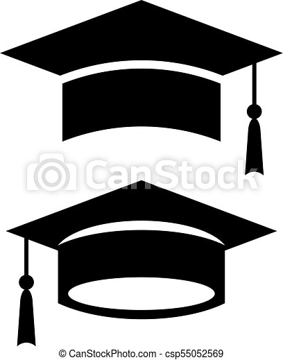academic graduation cap vector icon academic graduation clip art rh canstockphoto com clipart graduation hat clipart graduation hat